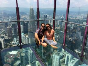 Wir auf dem KL Tower in Kuala Lumpur