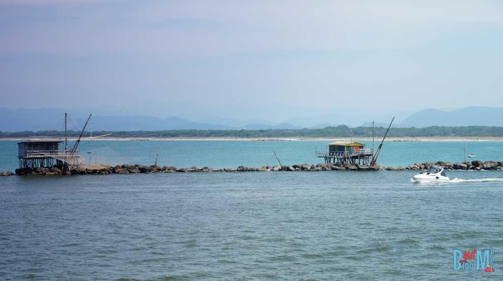 Fischerhäuschen in der Marina von Pisa