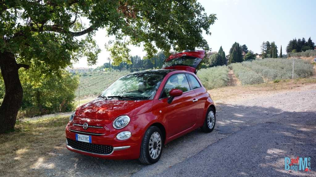 Unser Mini-Ferrari (Fiat 500) in der Toskana