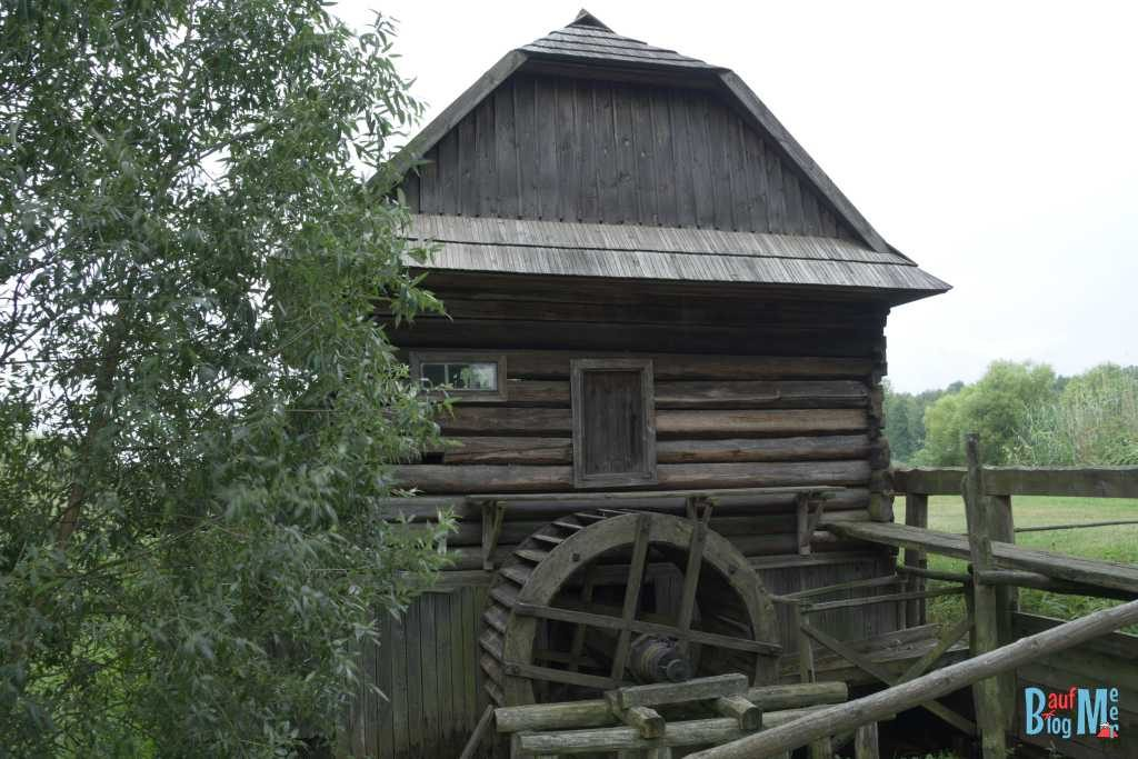 Mühle aus dem 19. Jahrhundert im Freilichtmuseum Kolbuszowa