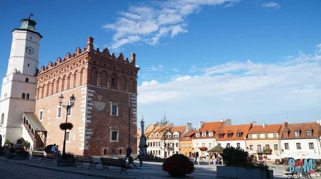 Stadtzentrum von Sandomierz im Osten Polens
