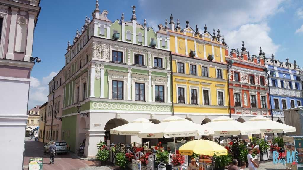 Stadtzentrum von Zamość im Osten Polens