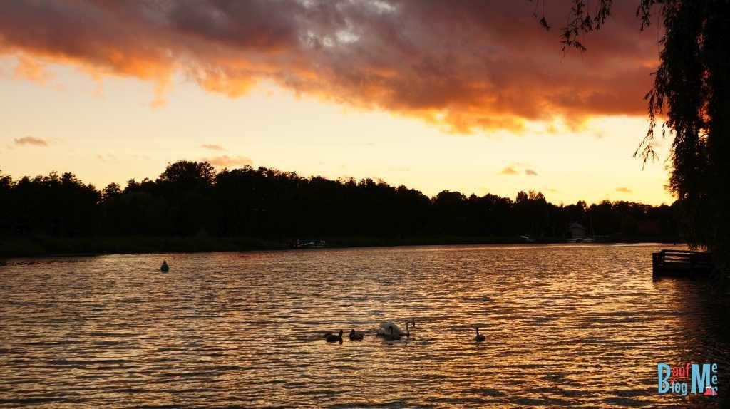 Sonnenuntergang in Augustów