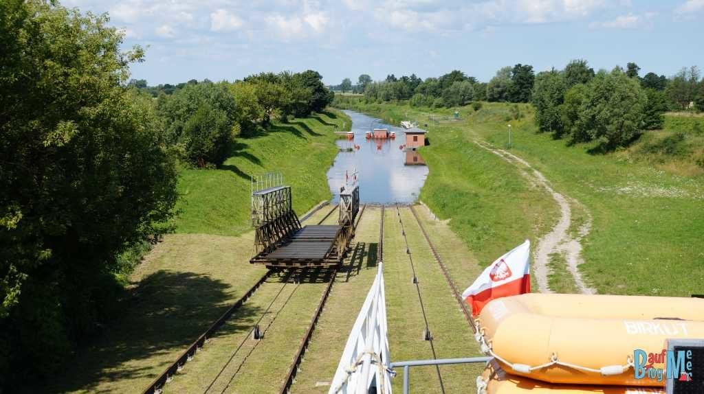 Schienenschleuse im Elblągkanal