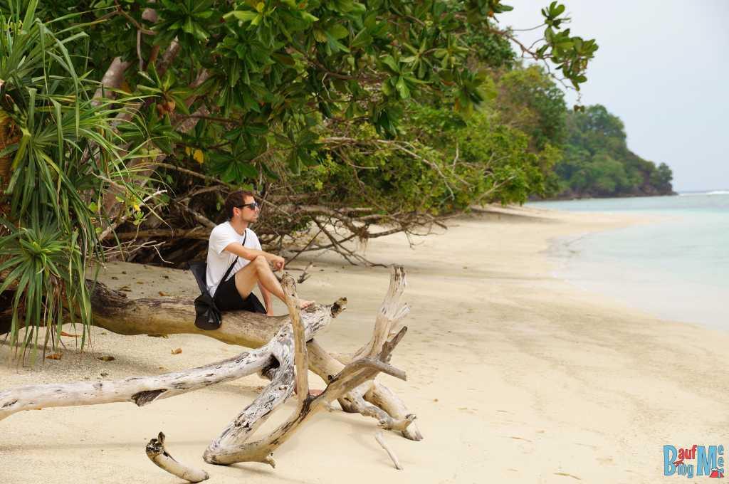 Chillen auf der Insel Merak