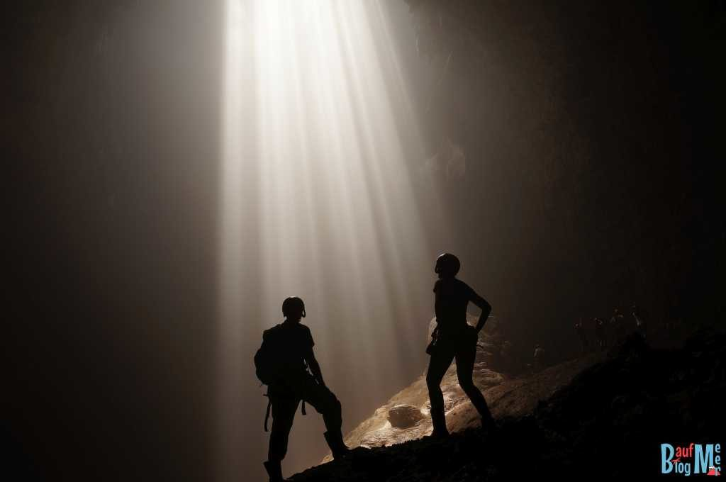 Heavenly light in der Goa (Höhle) Jomblang
