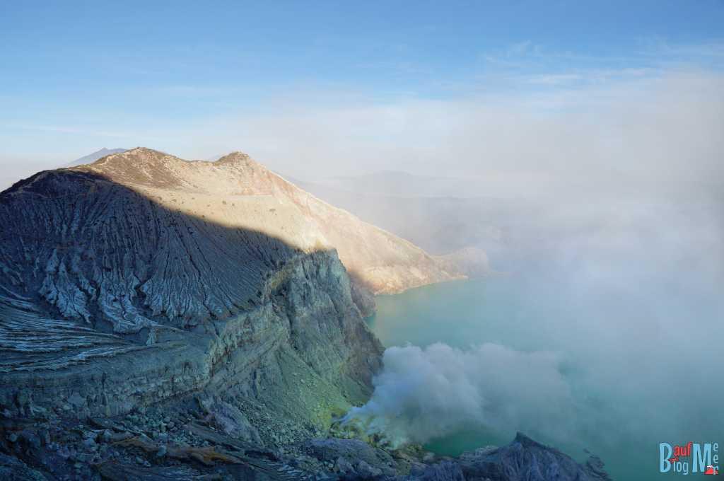 Kratersee Ijen, größtes Säurefass der Welt