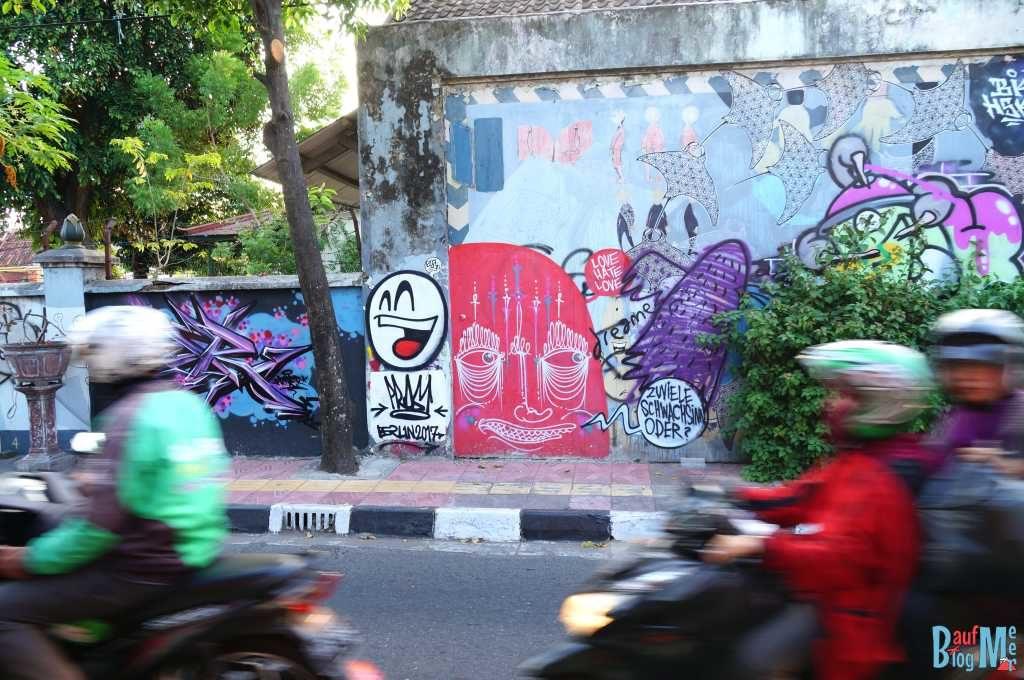 Sprayerkunst in Yogyakarta