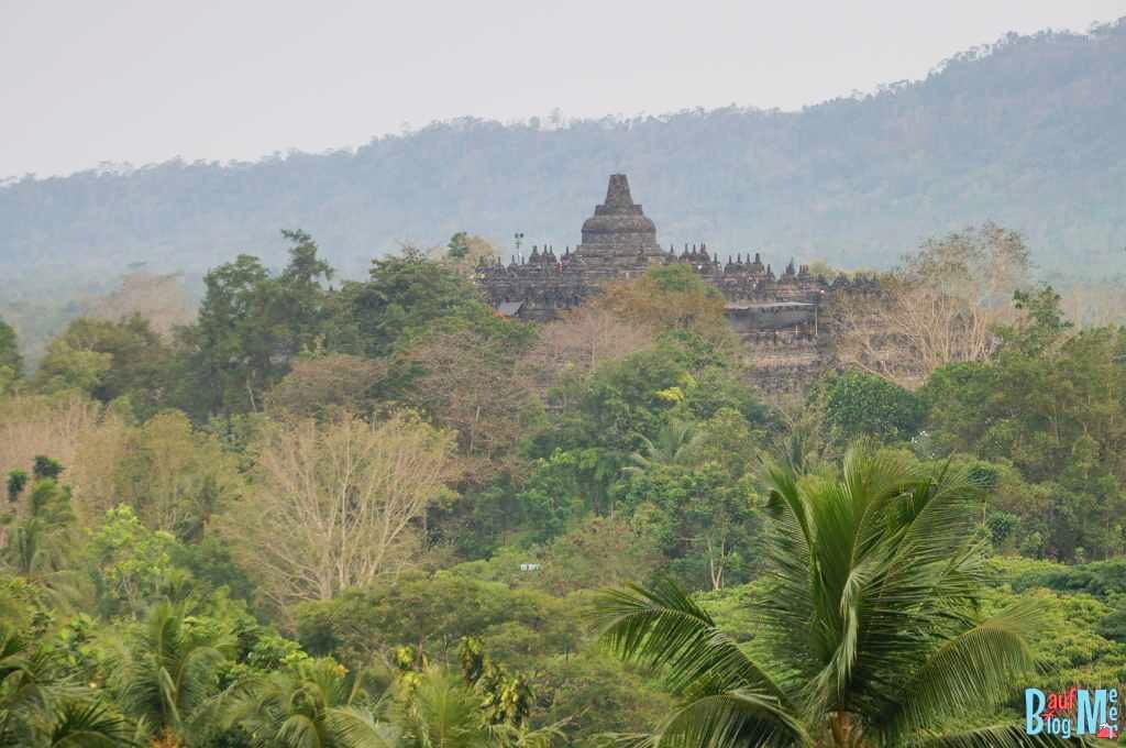 Blick auf den Borobodur vom Dagi Hügel