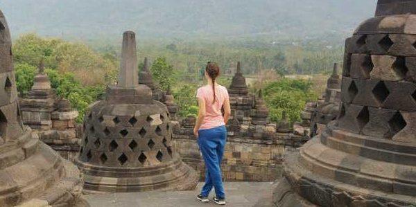 Aussicht nach Süden vom Borobodur