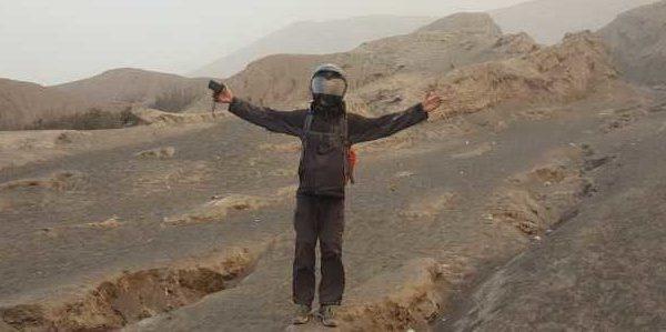 Bromo bei Sandsturm