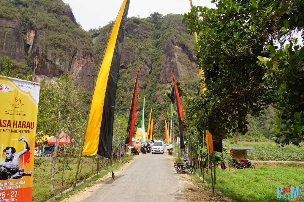 Vorbereitungen für das Harau Minangkabau Festival