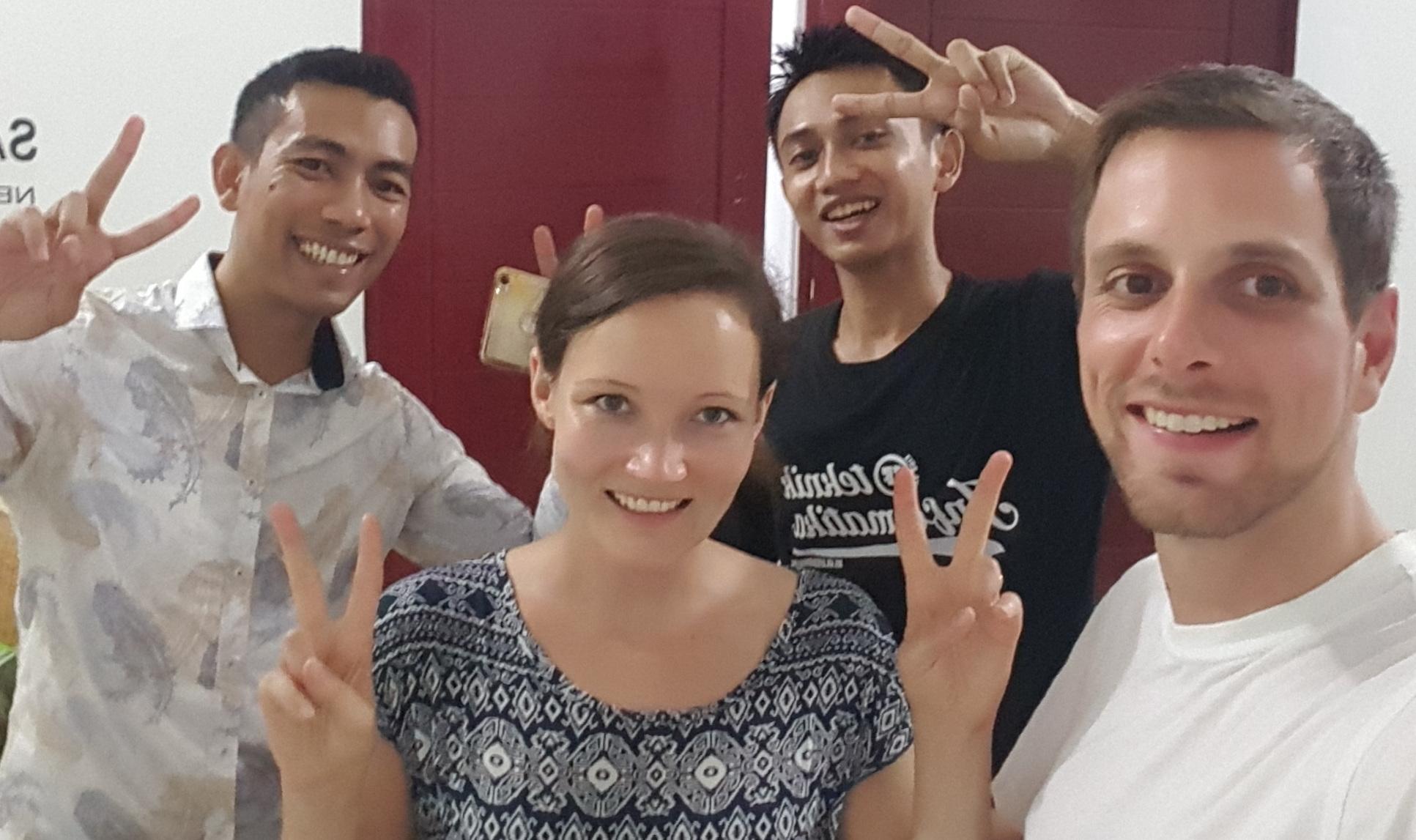 Wir 4 in Medan Selfie