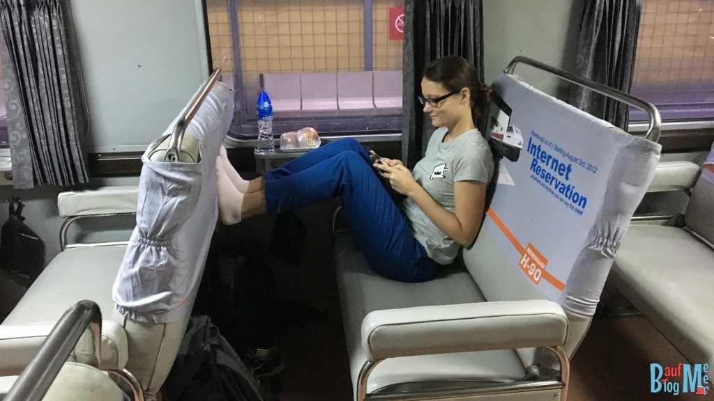 Business Class im Zug von Jakarta nach Yogyakarta