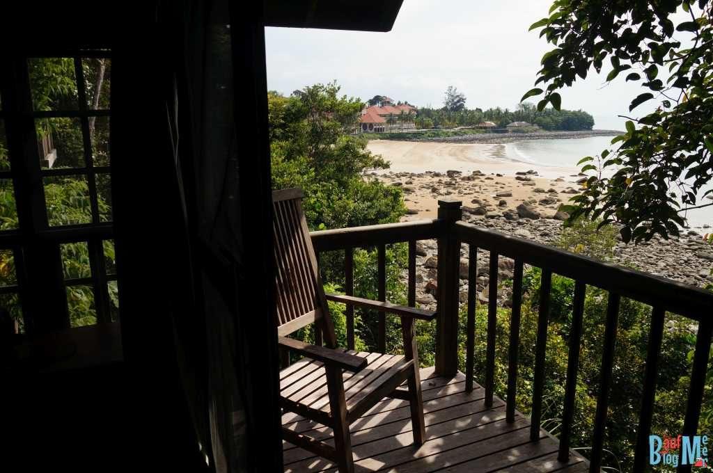 Ausblick von unserem Balkon im Permai Rainforest Resort Damai Beach bei Kuching