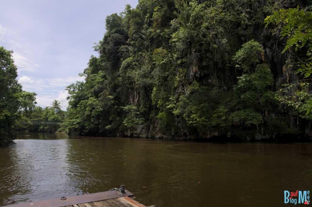 Ausblick auf den Fluss von unserer Unterkunft