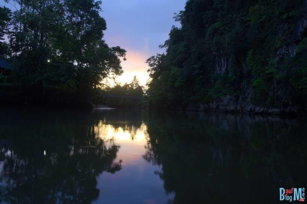 Sonnenuntergang von unserer Unterkunft
