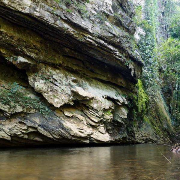 Fluss beim Paku Wasserfall im Gunung Mulu Nationalpark