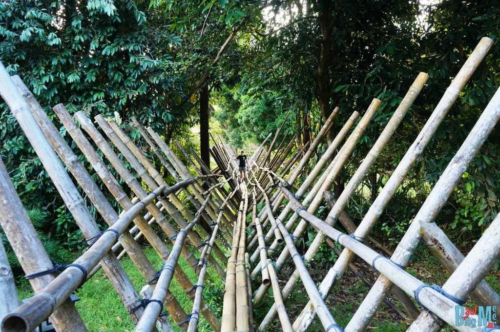Iban Brücke im Sarawak Village