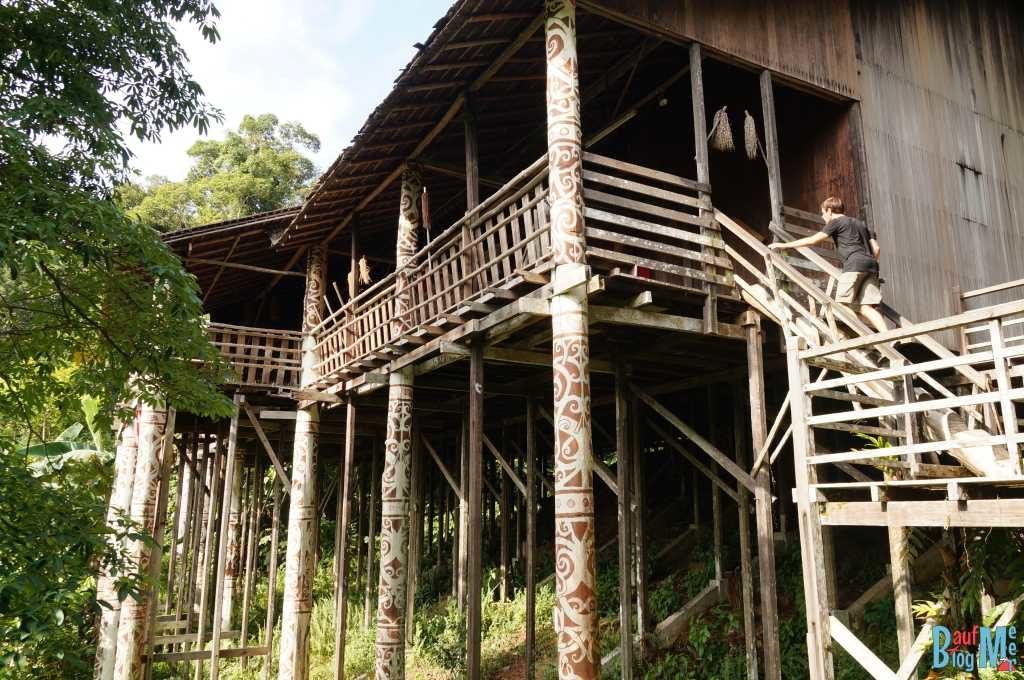 Orang Ulu Langhaus im Sarawak Village