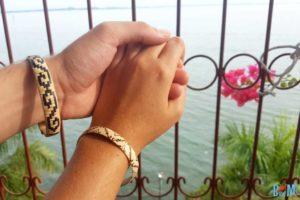 Rattan Armbänder, Handarbeit der Penan beim Gunung Mulu Nationalpark