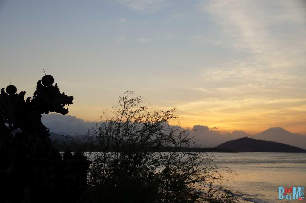 Sonnenuntergang vom Pura Pabean Tempel