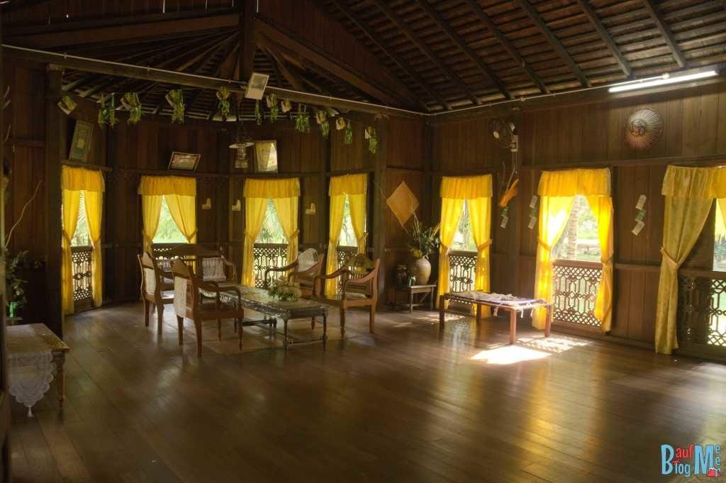 Malay Haus von innen im Sarawak Village
