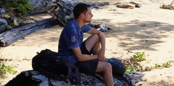 Abhängen an einem der Strände bevor man zum turtle Beach kommt