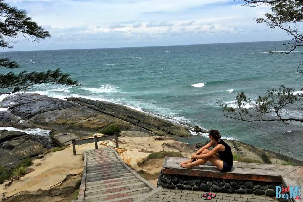 Treppe zum Tip of Borneo