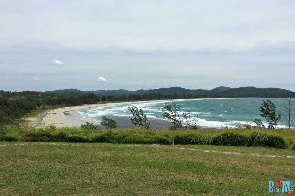 Ausblick auf den Strand vom Tip of Borneo