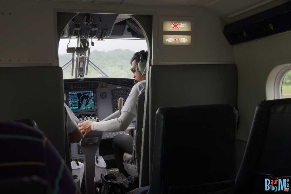Blick ins Cockpit einer Twinotter