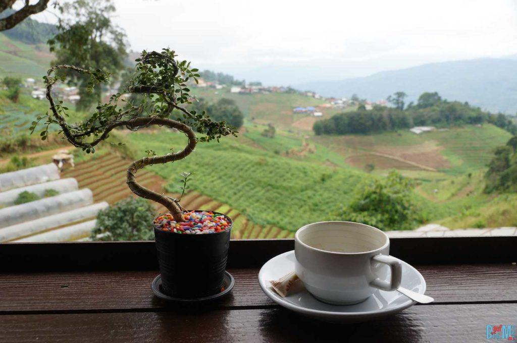 Kaffeepause in der Nähe von Mon Jam bei Chiang Mai