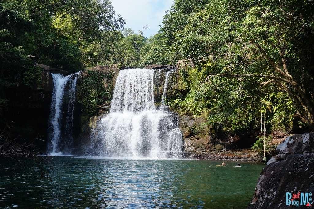 Becken des Khlong Yai Kee Wasserfalls auf Ko Kood
