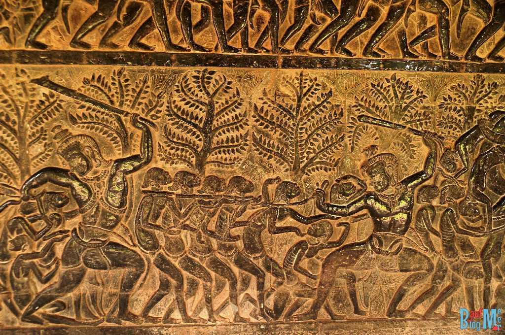 Relief an der Ost Sektion der Süd Galerie in Angkor Wat