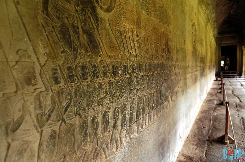 Relief an der West Sektion der Süd Galerie in Angkor Wat