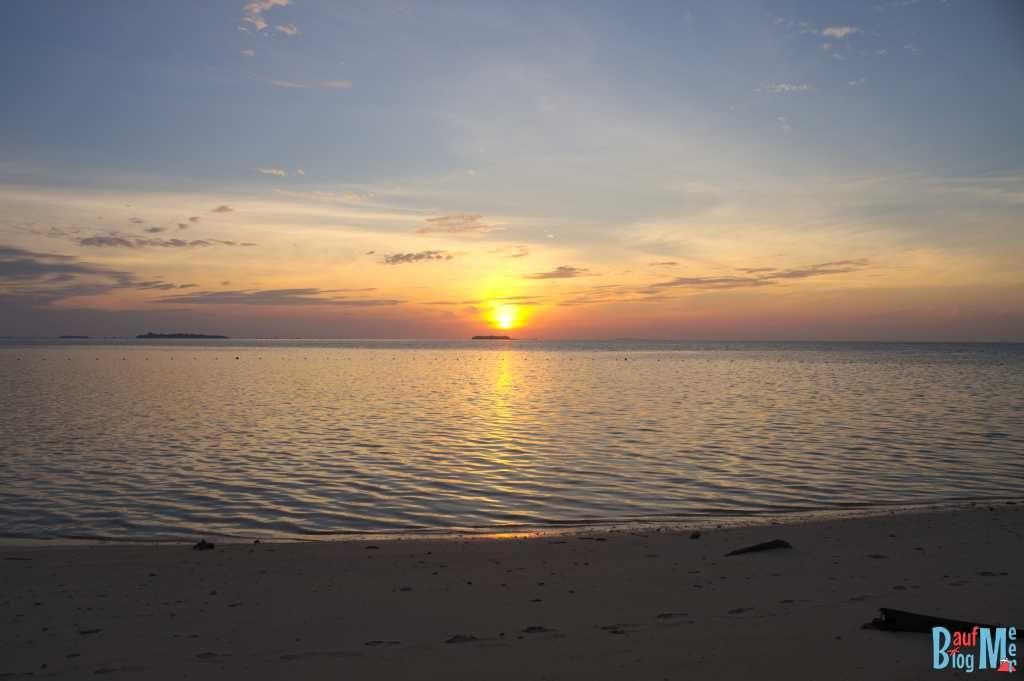 Sonnenaufgang auf Turtle Island Selingan
