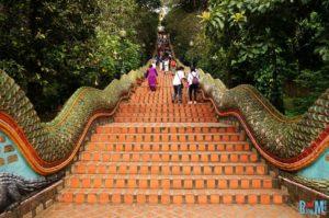 306 Treppen rauf zum Wat Phra That Doi Suthep