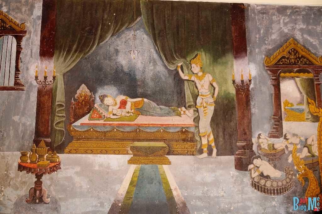 Wandbild im Wat Phra That Doi Suthep