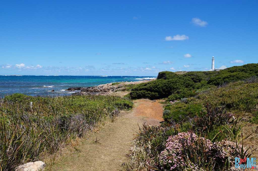 Blick auf den Leuchtturm am Kap Leeuwin