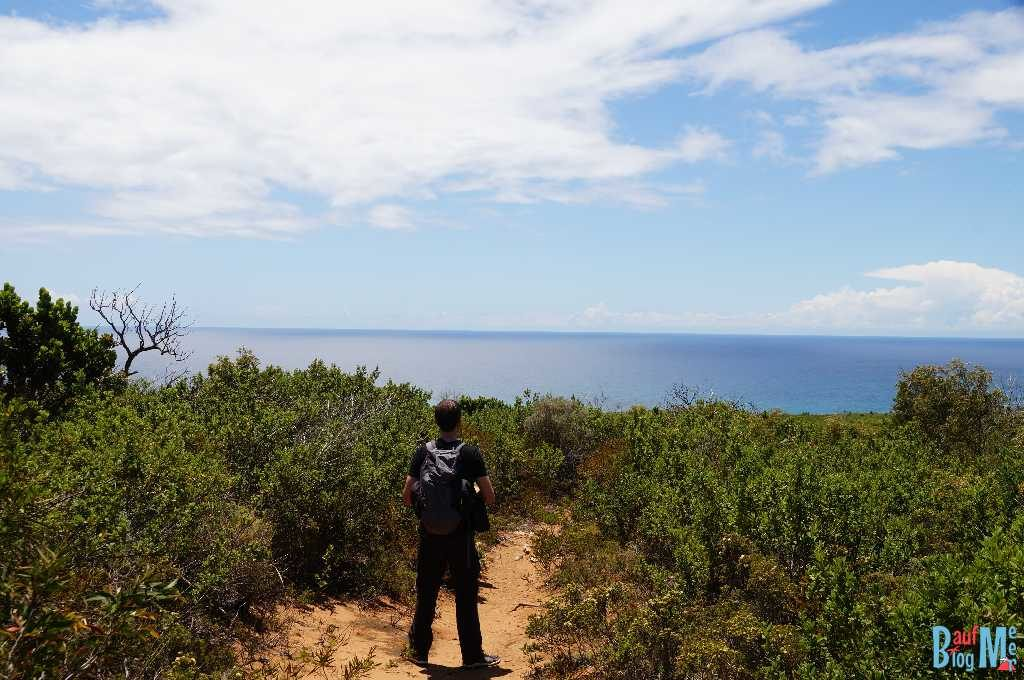 Chris auf Wanderweg am Cape Naturaliste