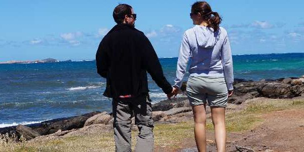 Wir zwei am Cape Leeuwin