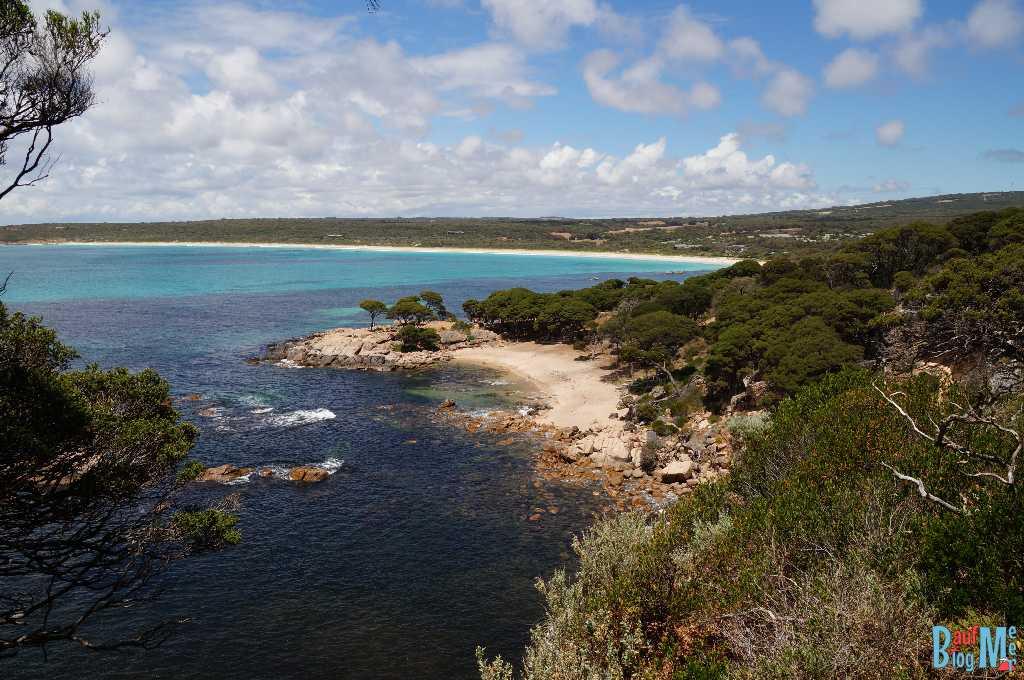 Ausblick auf den Shelly Cove Strand