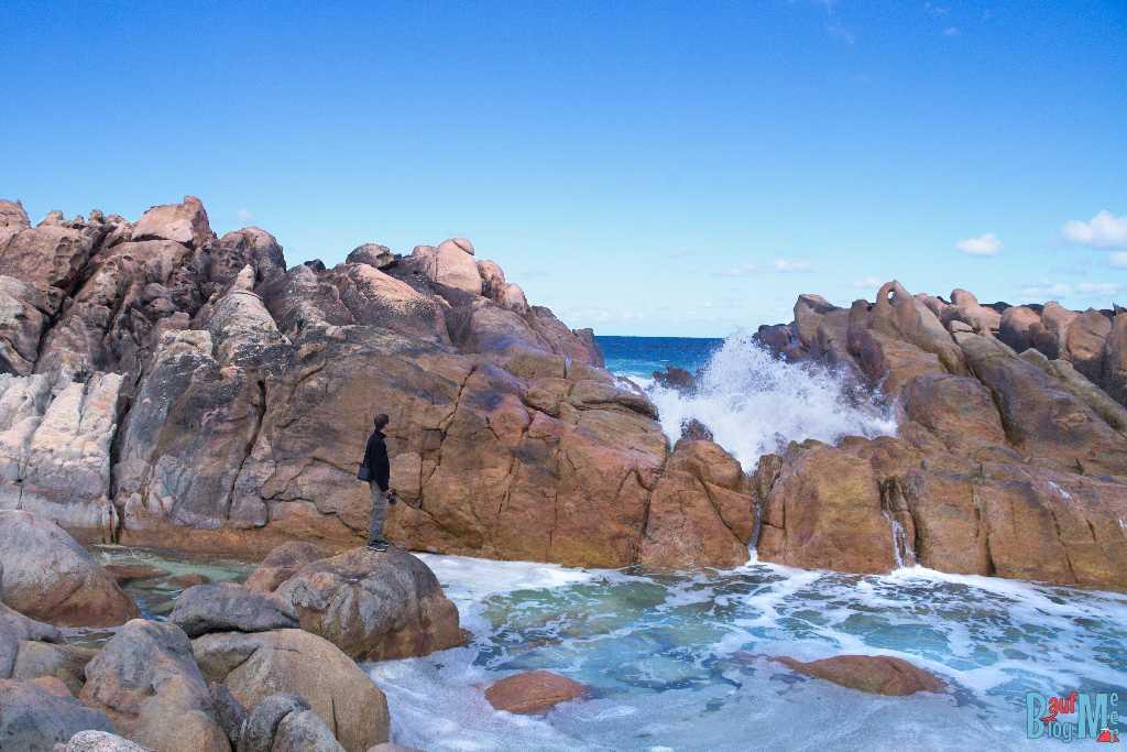 Wyadup Rocks und aquamarin Pool