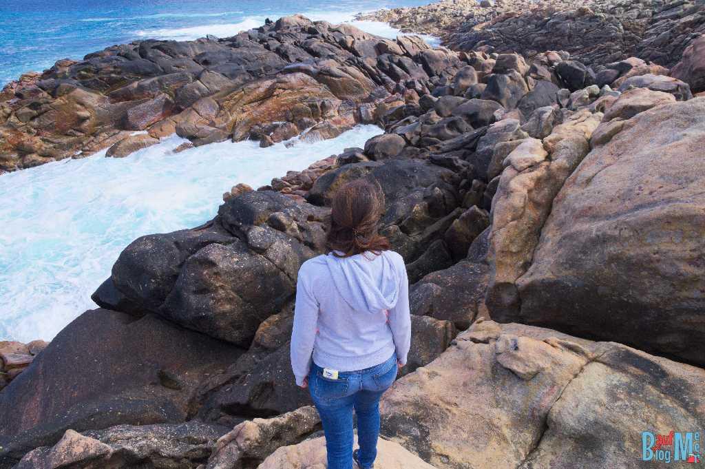 Anna auf den Wyadup Felsen