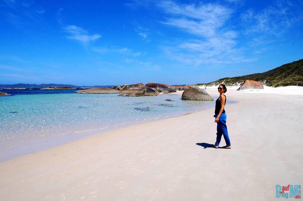 Anna am Strand von Greens Pool
