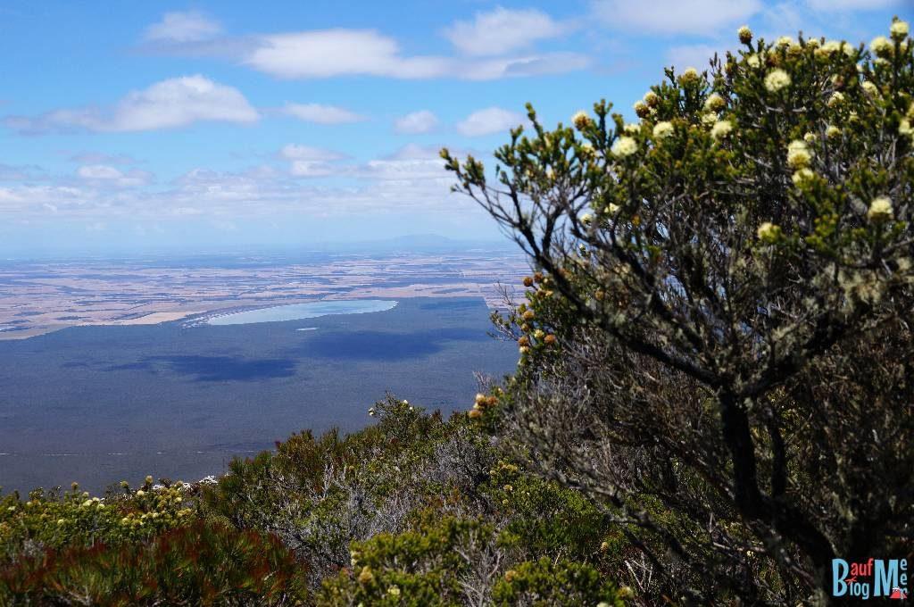 Aussicht auf See vom Gipfel des Bluff Knoll