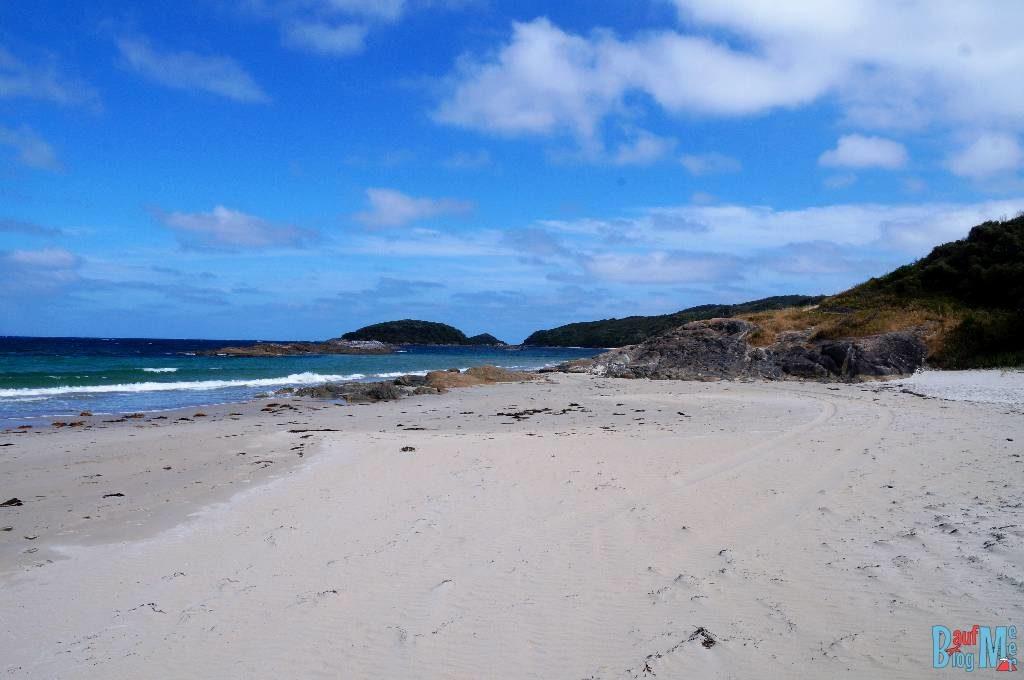 Strand beim gratis Camping Platz Cosy Corner