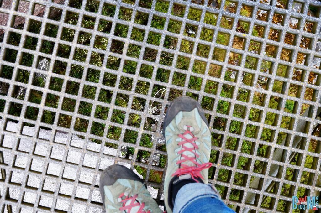 Blick durch das Gitter des Granite Skywalks nach unten