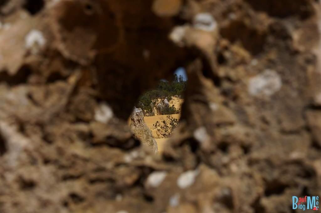 Pinnacles Loch im Kalkstein