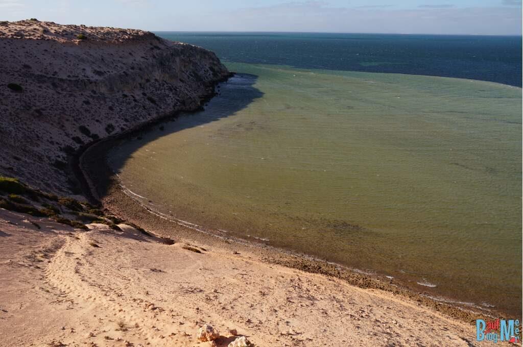 Ausblick auf die flache Bucht bei Eagle Bluff